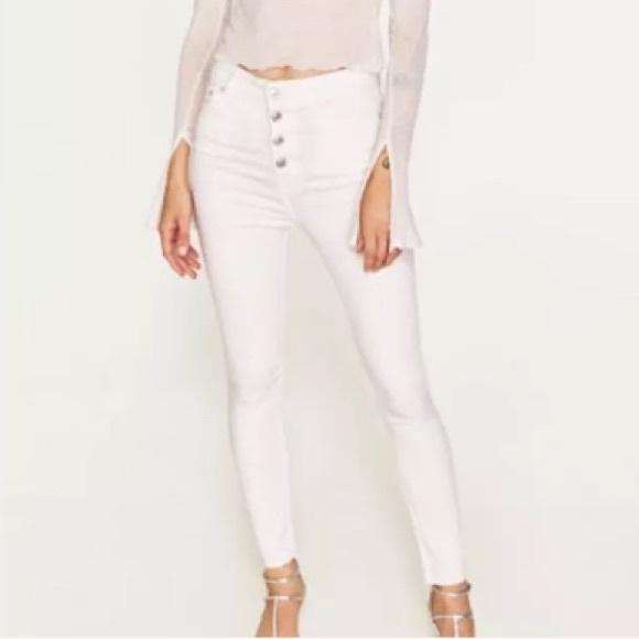 c7d28b64 Zara Jeans   Nwt Exposed Button White High Rise 36 4   Poshmark